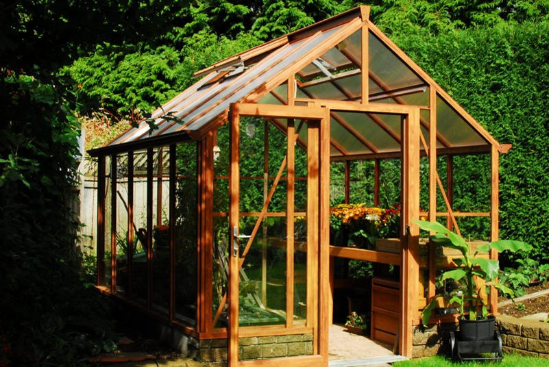 Wood Grain Greenhouse